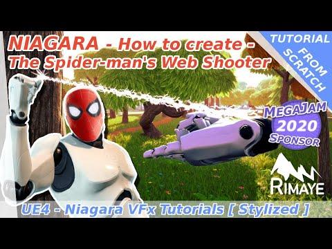 Niagara : How to create The spider-man's Web Shooter - UE4 tutorials [ Blueprint Interactions ]