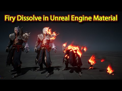 Fiery Dissolve Effect in Unreal Engine Material Editor | Download Project Files