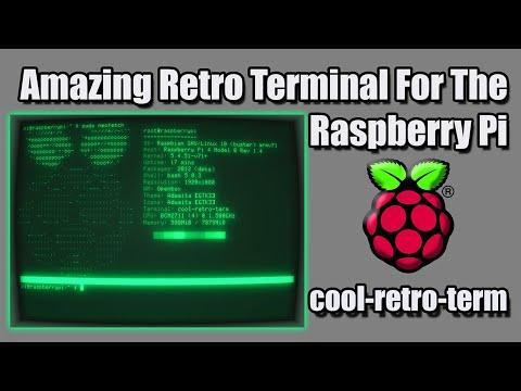 Amazing Retro Terminal For The Raspberry Pi - Install cool-retro-term