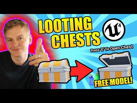 Unreal Engine 4 - Looting Chests Tutorial (Overlap/Keypress/Animation)