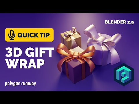 Gift Wrap and Bow Tutorial in Blender 2.9