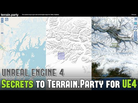 UE4: Secrets to Generating FREE Real-World Heightmaps from Terrain Party for UE4