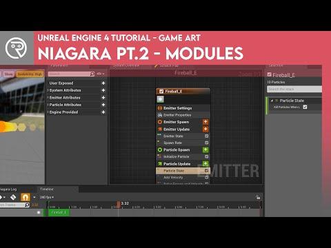 Unreal Engine 4 Tutorial - Niagara Pt.2 - Modules