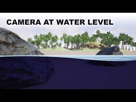 Unreal Camera at water level split view