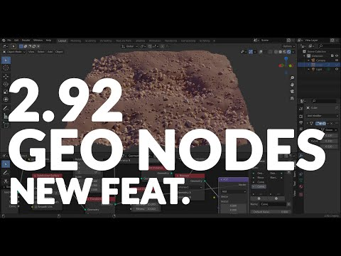 BLENDER 2.92 - GEOMETRY NODES - NEW FEATURE - EXPLAINED & REVIEW!