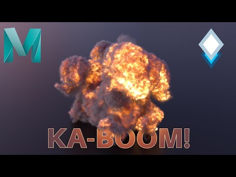 Shade and Light an OpenVDB Explosion in Maya 2020