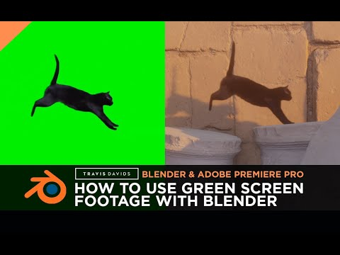 Blender, Adobe Premiere Pro & Eevee - How To Use Green Screen Footage