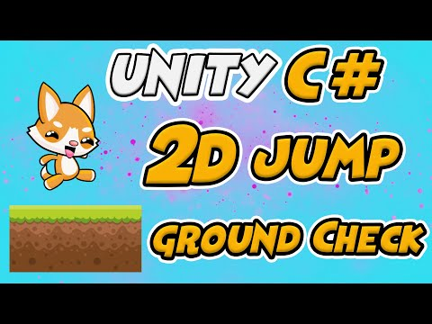 Unity C# Scripting - 2D Player Jump & Ground Check
