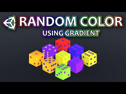 Random Color In Unity Using Gradients | Unity Random Color Tutorial