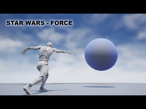Star wars force/magic attacks in unreal engine