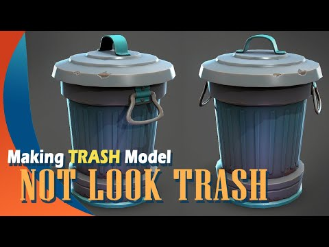 Making a Stylized Trashcan in Autodesk Maya and Substance Painter