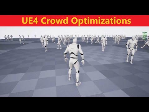 UE4 Crowd Optimizations(150+ NPC Character simulating in Scene) UE4Tuts For You#UE4tuts#UE4