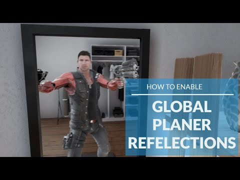 How to enable global planer reflection for mirrors in UE4