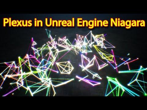 Plexus effect with Particle Attribute Reader   Unreal Engine Niagara Tutorials   UE4 Niagara Plexus