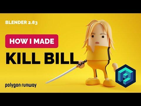Kill Bill Character in Blender 2.83 - 3D Modeling Process