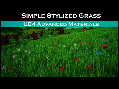Ue4: advanced materials (Ep. 53 Simple Stylized Grass)