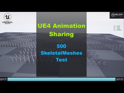 UE4 Animation Sharing| Anim Sharing Plugin-#AnimSharing#UE4Tuts