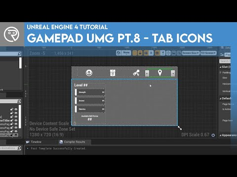 Unreal Engine 4 Tutorial - Gamepad UMG Control Pt.8 - Tab Icons