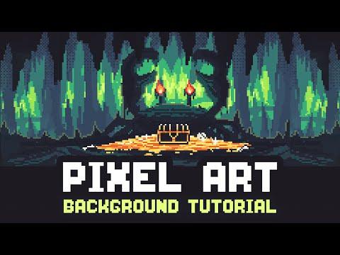 Pixel Art Background Tutorial - (Aseprite)