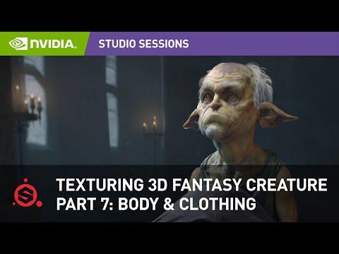 Texturing a 3D Fantasy Creature w/ Maria Panfilova Adobe Substance Painter | Part 7: Body & Clothing