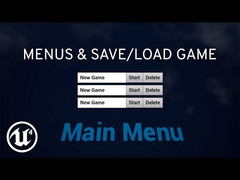 Main Menu and Saving Game to Slot in UE4 Blueprints (Basic Game: Part 1)