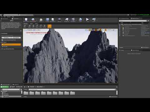 Unreal Landscape layers & spine Tool - for Roads and Paths