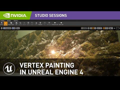 Vertex Painting in Unreal Engine 4 w/ Javier Perez | NVIDIA Studio Sessions