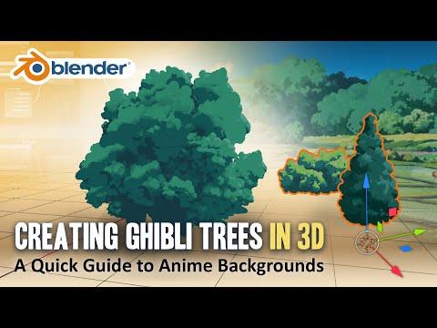 How to Create Ghibli Trees in 3D - Blender Tutorial