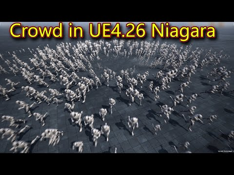 Crowd Simulation in UE4.26 Niagara Component Renderer