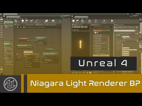 UE4 - Niagara Light Renderer and Blueprints