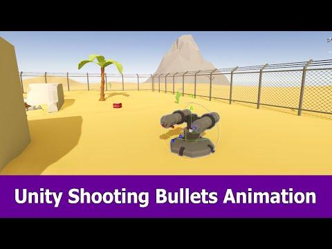 Blender & Unity Shooting Bullets Animation Tutorial