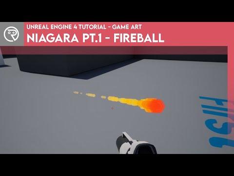 Unreal Engine 4 Tutorial - Niagara Pt.1 - Fireball