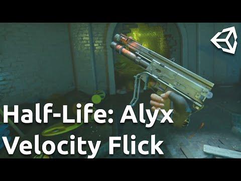 Velocity Flick in Half-Life: Alyx