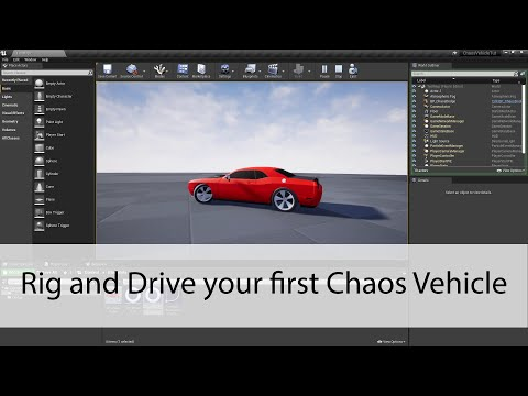 Rig and Drive your first Chaos Vehicle - Unreal Engine 4 Tutorial