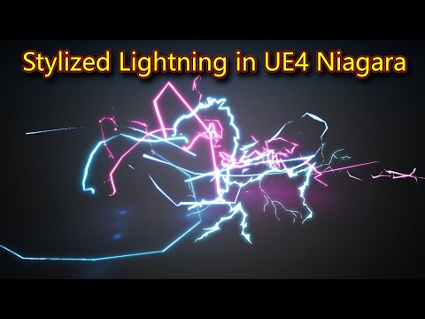 UE4 Niagara Stylized Lightning | Files on Patreon
