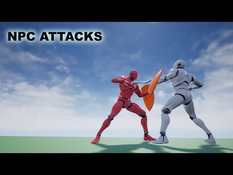 Unreal Sidescroller - Melee Combat AI NPC Attacks