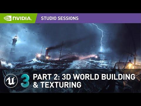 Create Impressive 360 Panoramic Concept Art w/ Vladimir Somov |Part 2: 3D World Building & Texturing