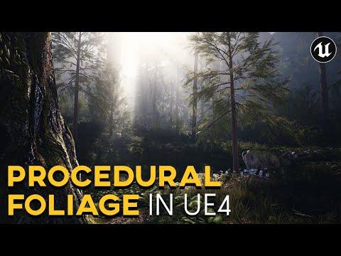 Procedural Foliage in Unreal Engine 4   UE4 Tutorial (2020)