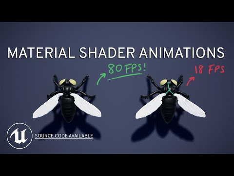 Material Shader Animation in UE4 (Rendering 100s of objects, comparison vs. AnimBPs)