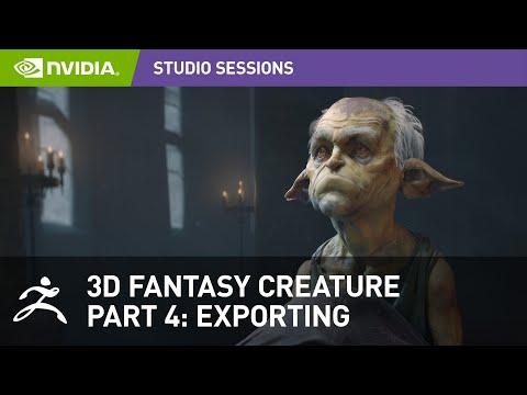 Creating a 3D Fantasy Creature w/ Maria Panfilova - Pixologic Zbrush | Part 4: Exporting