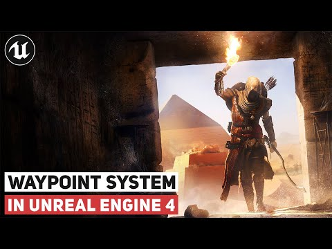 Waypoint System With Markers | UE4 Tutorial (RPG Series)