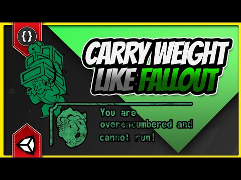 How to Make a Fallout Style Carry Weight System [Unity Tutorial]