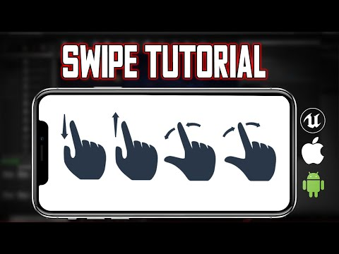 Swipe touch controls unreal engine mobile tutorial