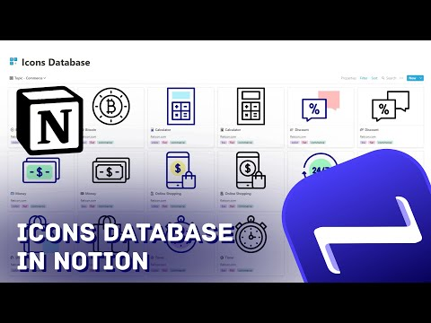 ICONS DATABASE IN NOTION: Collect and categorize the icons you like, download them only when needed