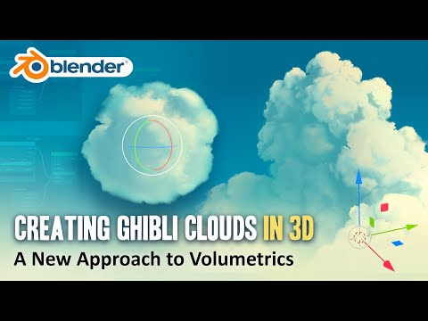 How to Create Ghibli Clouds in 3D - Blender Volumetrics Tutorial