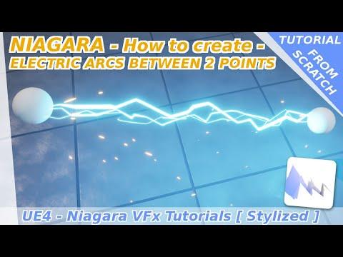 Niagara : How to create electric arcs between 2 points - UE4 tutorials