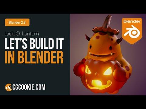 Jack-O-Lantern Costume | Let's Build It In Blender
