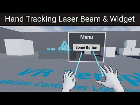 Hand Tracking Laser Pointer & Widget in UE4