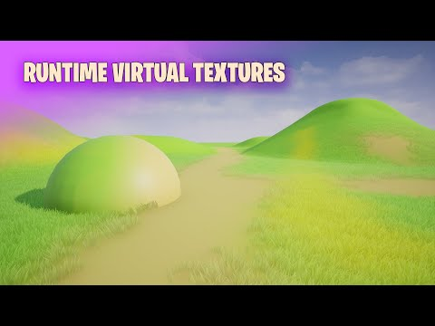 Landscape color blending with Runtime Virtual Textures