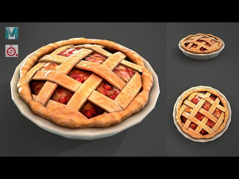 How to make a stylized Pie with Maya and Substance Painter